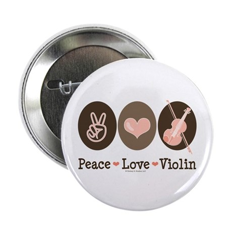 """Peace Love Violin 2.25"""" Button (10 pack)"""