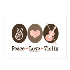 Peace Love Violin Postcards (Package of 8)