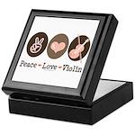 Peace Love Violin Keepsake Box