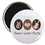 Peace Love Violin Magnet