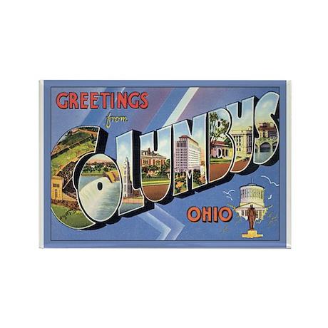 Columbus OH Postcard Rectangle Magnet