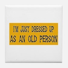 Old Person Costume Tile Coaster