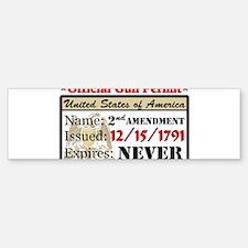 Official Gun Permit Bumper Bumper Bumper Sticker