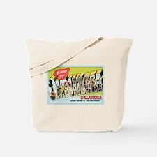 Okmulgee OK Postcard Tote Bag