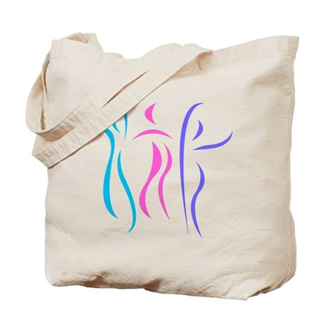 Colorful Dancers Tote Bag