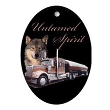 Untamed Spirit Oval Ornament
