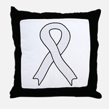 Pearl Ribbon Throw Pillow