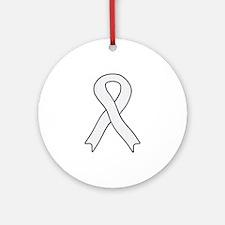 Pearl Ribbon Ornament (Round)