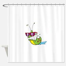 Slug Cool Shower Curtain