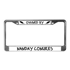 Owned by Nanday Conures License Plate Frame