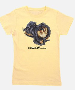 Cute Black and tan pomeranian Girl's Tee