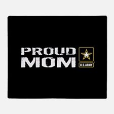 U.S. Army: Proud Mom (Black) Throw Blanket