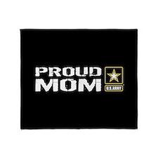 U.S. Army: Proud Mom Throw Blanket