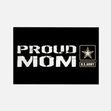 U.S. Army: Proud Mom (Black) Rectangle Magnet