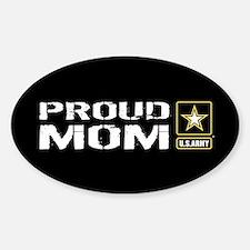 U.S. Army: Proud Mom (Black) Sticker (Oval)