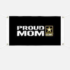 U.S. Army: Proud Mom (Black) Banner
