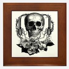 Pistols, death and roses Framed Tile