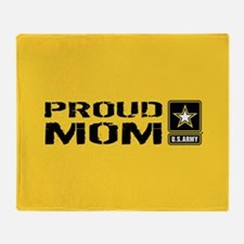 U.S. Army: Proud Mom (Gold) Throw Blanket