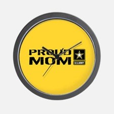 U.S. Army: Proud Mom (Gold) Wall Clock