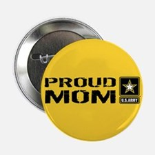 """U.S. Army: Proud Mom (Gold) 2.25"""" Button (10 pack)"""