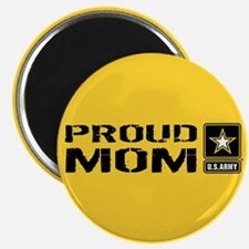 """U.S. Army: Proud Mom (Gold) 2.25"""" Magnet (10 pack)"""