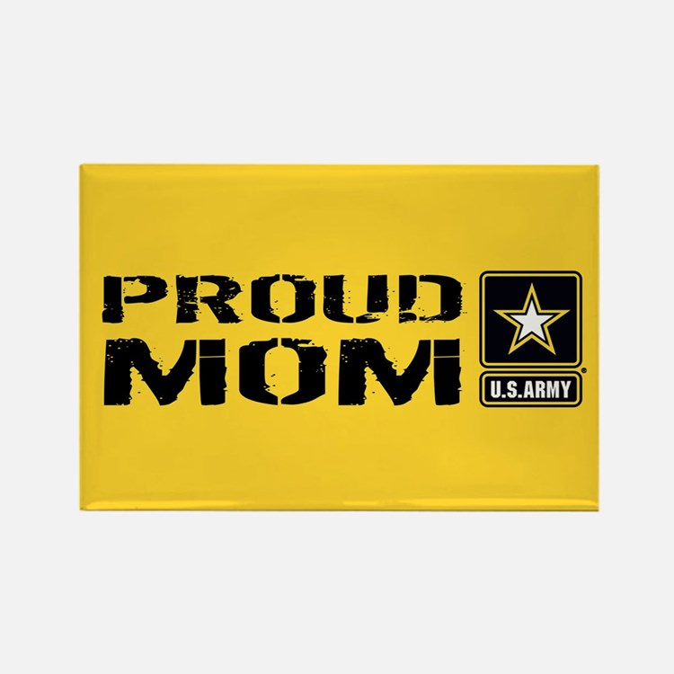 U.S. Army: Proud Mom (Gold) Rectangle Magnet