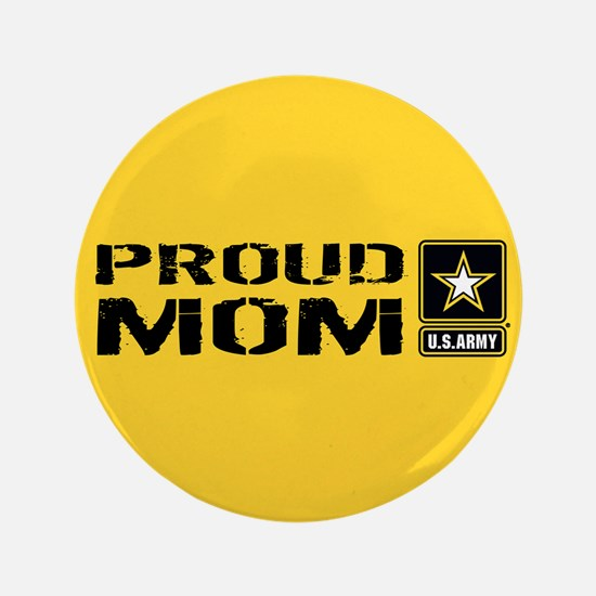 U.S. Army: Proud Mom (Gold) Button