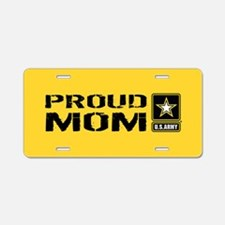 U.S. Army: Proud Mom (Gold) Aluminum License Plate