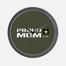U.S. Army: Proud Mom (Military Green) Wall Clock