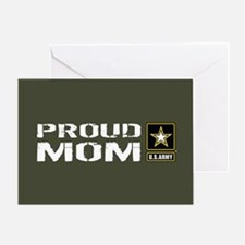 U.S. Army: Proud Mom (Military Green Greeting Card