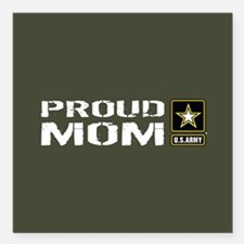 "U.S. Army: Proud Mom (Mi Square Car Magnet 3"" x 3"""