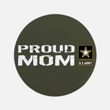 U.S. Army: Proud Mom (Military Green) Button
