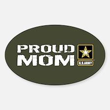 U.S. Army: Proud Mom (Military Gree Sticker (Oval)