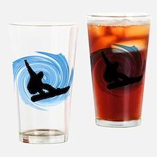 Cute Snowboarder Drinking Glass