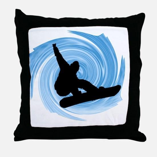 Unique Snowboard Throw Pillow