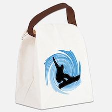 Cute Snowboard Canvas Lunch Bag