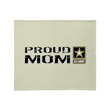 U.S. Army: Proud Mom (Military Sand Throw Blanket