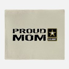 U.S. Army: Proud Mom (Sand) Throw Blanket