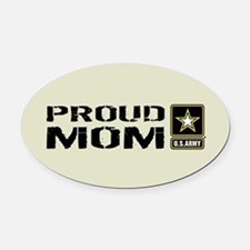 U.S. Army: Proud Mom (Sand) Oval Car Magnet