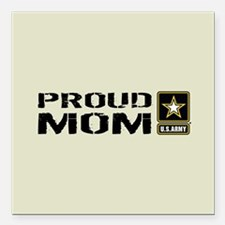 "U.S. Army: Proud Mom (Sa Square Car Magnet 3"" x 3"""
