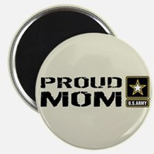 """U.S. Army: Proud Mom (Sand) 2.25"""" Magnet (10 pack)"""