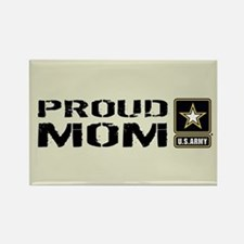 U.S. Army: Proud Mom (Sand) Rectangle Magnet