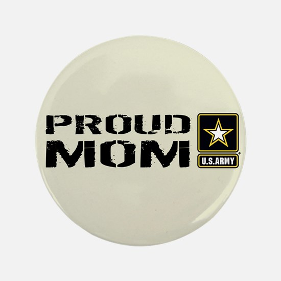 U.S. Army: Proud Mom (Sand) Button