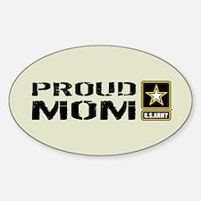 U.S. Army: Proud Mom (Sand) Sticker (Oval)