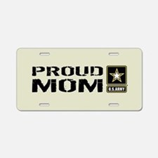 U.S. Army: Proud Mom (Sand) Aluminum License Plate