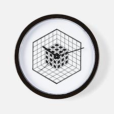 Hexagon cube Wall Clock