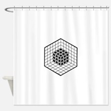Hexagon cube Shower Curtain