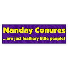 Feathery People Nanday Conure Bumper Bumper Sticker