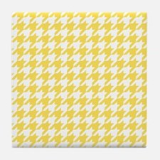 Yellow, Canary: Houndstooth Checkered Tile Coaster
