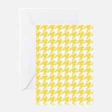 Yellow, Canary: Houndstooth Checkere Greeting Card
